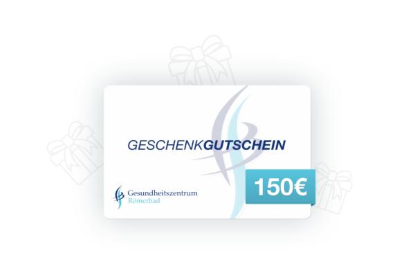 150€ Wertgutschein Gesundheitszentrum Römerbad Sauna Rottenburg