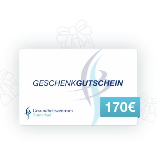170€ Wertgutschein Gesundheitszentrum Römerbad Sauna Rottenburg