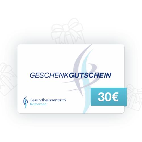 30€ Wertgutschein Gesundheitszentrum Römerbad Sauna Rottenburg
