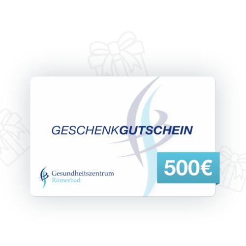 500 € Wertgutschein Gesundheitszentrum Römerbad Sauna