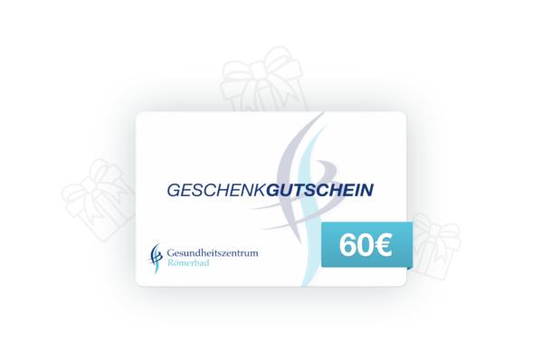 60€ Wertgutschein Gesundheitszentrum Römerbad Sauna Rottenburg